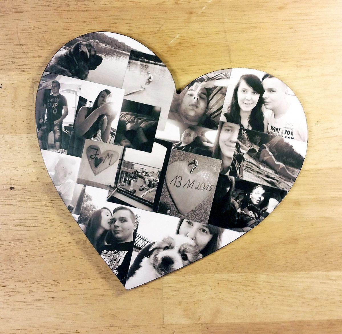 Коллаж совместных фото в виде сердца