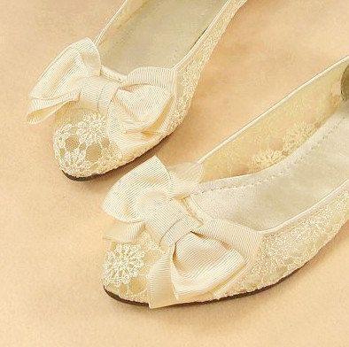 Vintage Style Lace Wedding Shoes Bridal Shoes Bridesmaid Shoes
