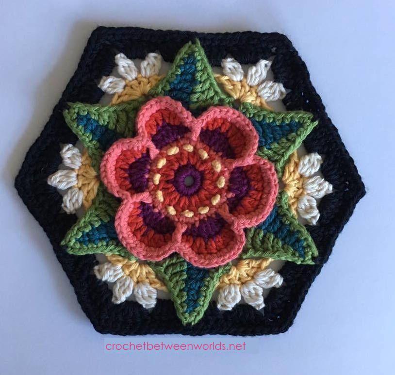 Crochet entre les mondes: CAL de Flowers of Frida – Bloc 6 – Ring of Roses   – Crochet Patterns & Tutorials