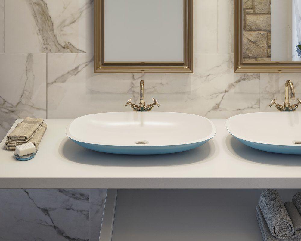 Aquatica Coletta A Jaffa Blue Wht Stone Bathroom Vessel Sink