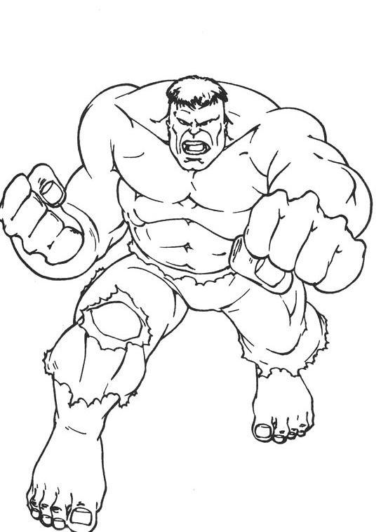 Hulk Strong Coloring Page