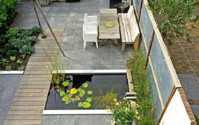 Tuinidee n kleine moderne tuin google zoeken tuin for Kleine tuinvijver