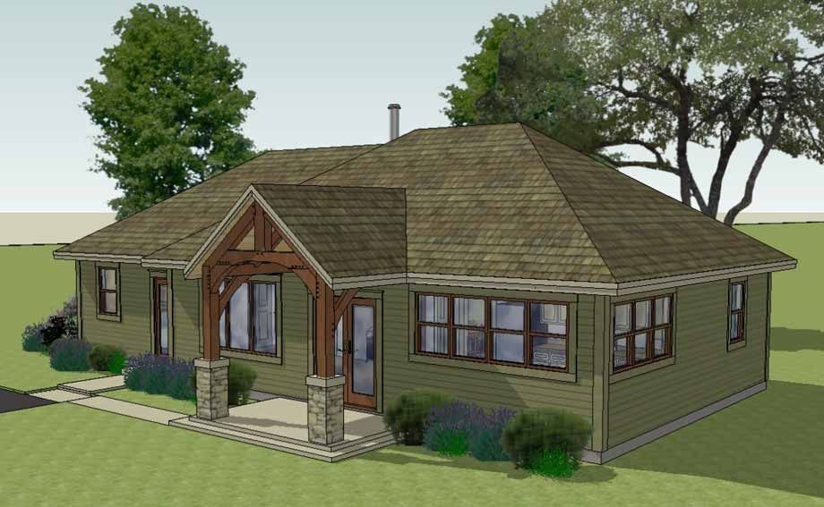 The Brison Newcomb With Hip Roof 1370 Sf Arlington Timber Frames Porch Roof Design Hip Roof Modern Porch