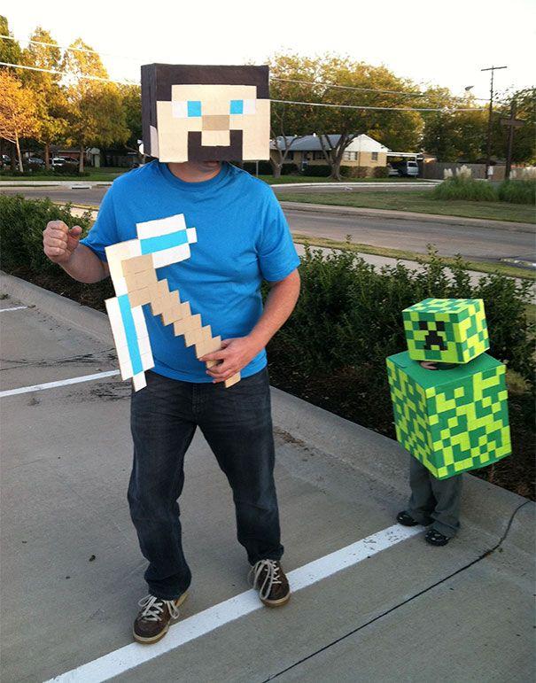 Minecraft Miner And Creeper Costume minecraft Pinterest - minecraft halloween costume ideas