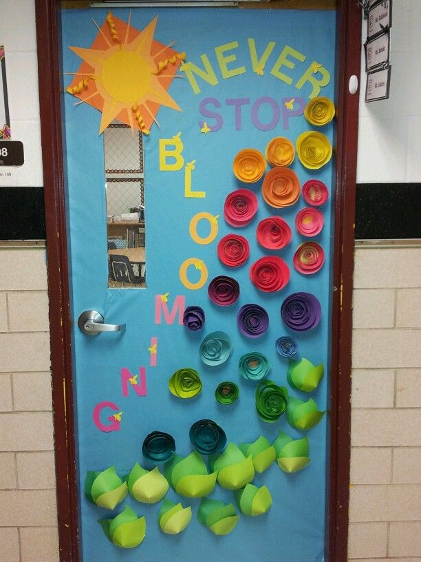Classroom Ideas For Spring ~ Just keep blooming spring classroom door things for