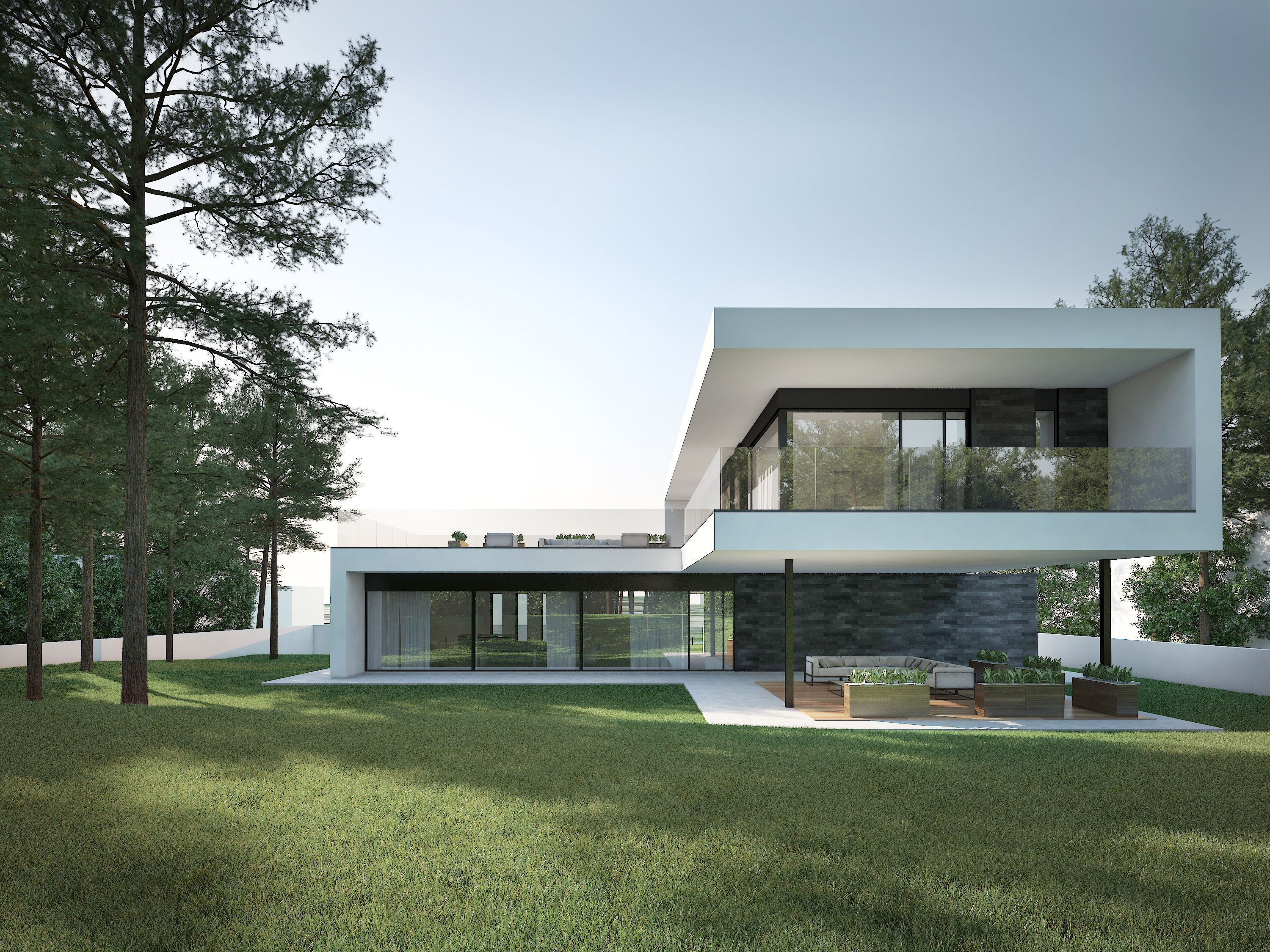 Modern House In Kaunas By Ng Architects Www Ngarchitects Lt Ng