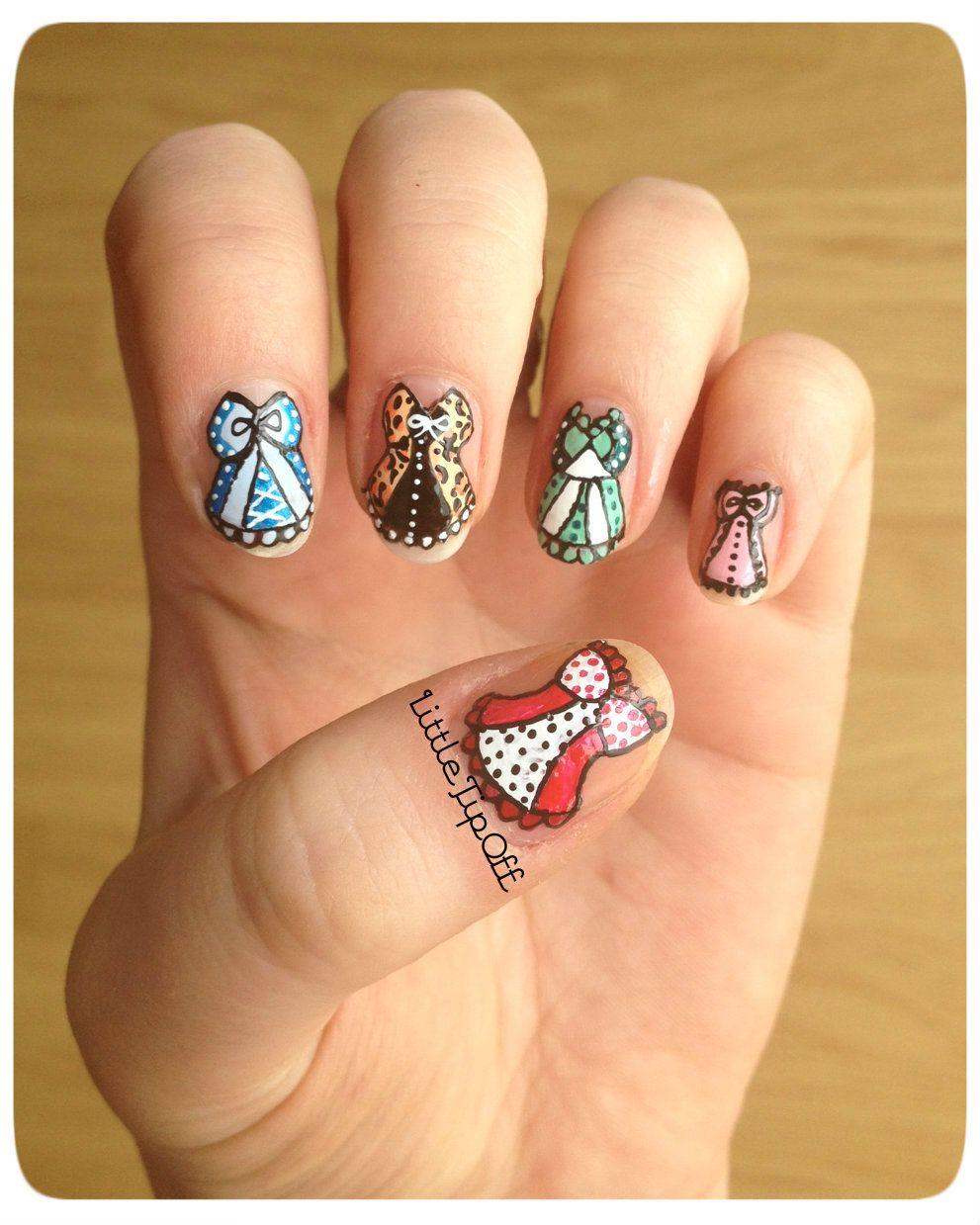 Corset Nail Designs | Little Tip Off | UK Nail Art Blog: Corset ...