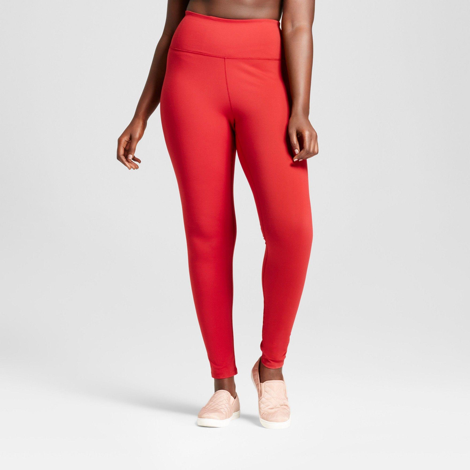 3593c2ffc7153c Plus Size Women's Plus Premium High Waist Long Leggings - JoyLab Crimson ( Red) 4X