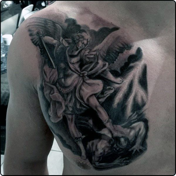 Top 73 St Michael Tattoo Ideas 2020 Inspiration Guide