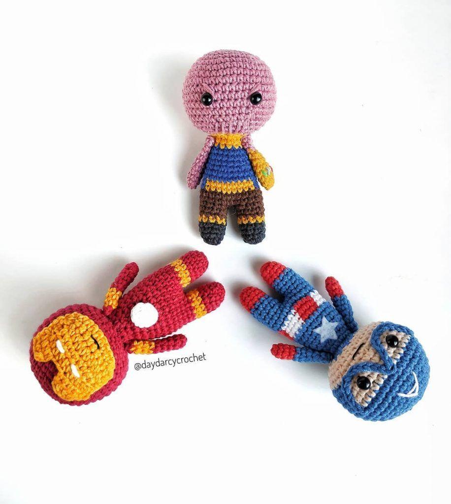 Thanos Chibi Amigurumi Crochet Pattern Tutorial Kawaii Toy Plush ... | 1024x916