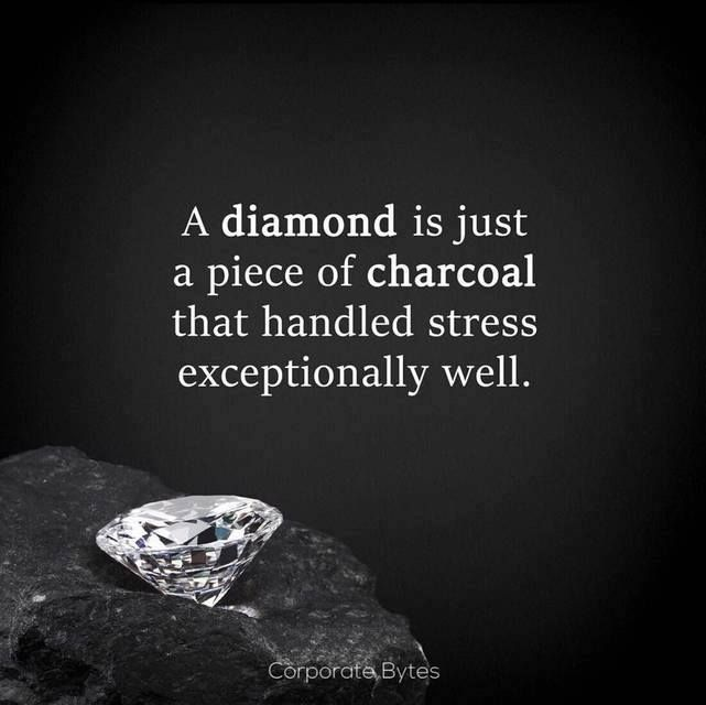 Diamond Quotes Custom A Diamond Is Just A Piece Of Charcoal That Handled Stress