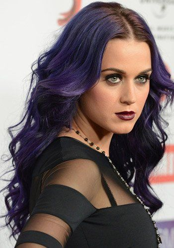 Purple Green Blue Katy Perry S Multicolored Hair Evolution Photos Katy Perry Purple Hair Katy Perry Body Katy Perry Photos