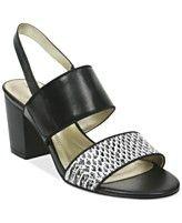 Tahari Alex Block Heel Banded Sandals