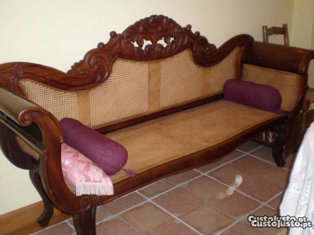 antique canape imperial with carved wood meters long for sale comunidade. Black Bedroom Furniture Sets. Home Design Ideas