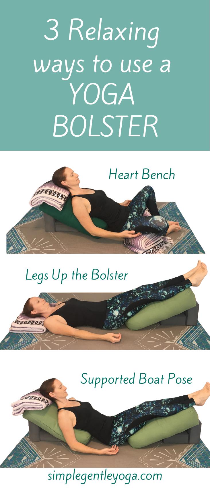 47 Restorative Yoga Poses with a Bolster  Restorative yoga poses
