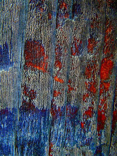 Urban investigation - texture study - indigo