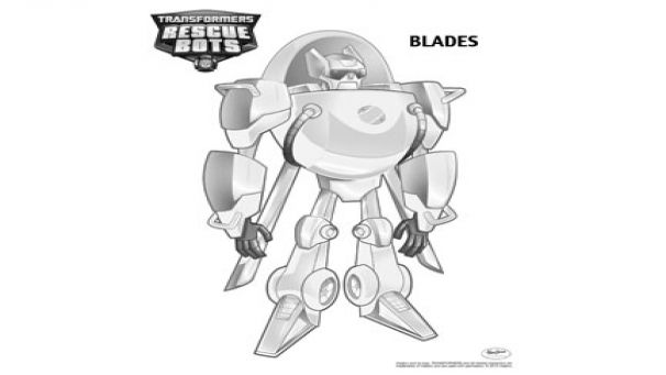 Coloring Transformers Rescue Bots - Blades