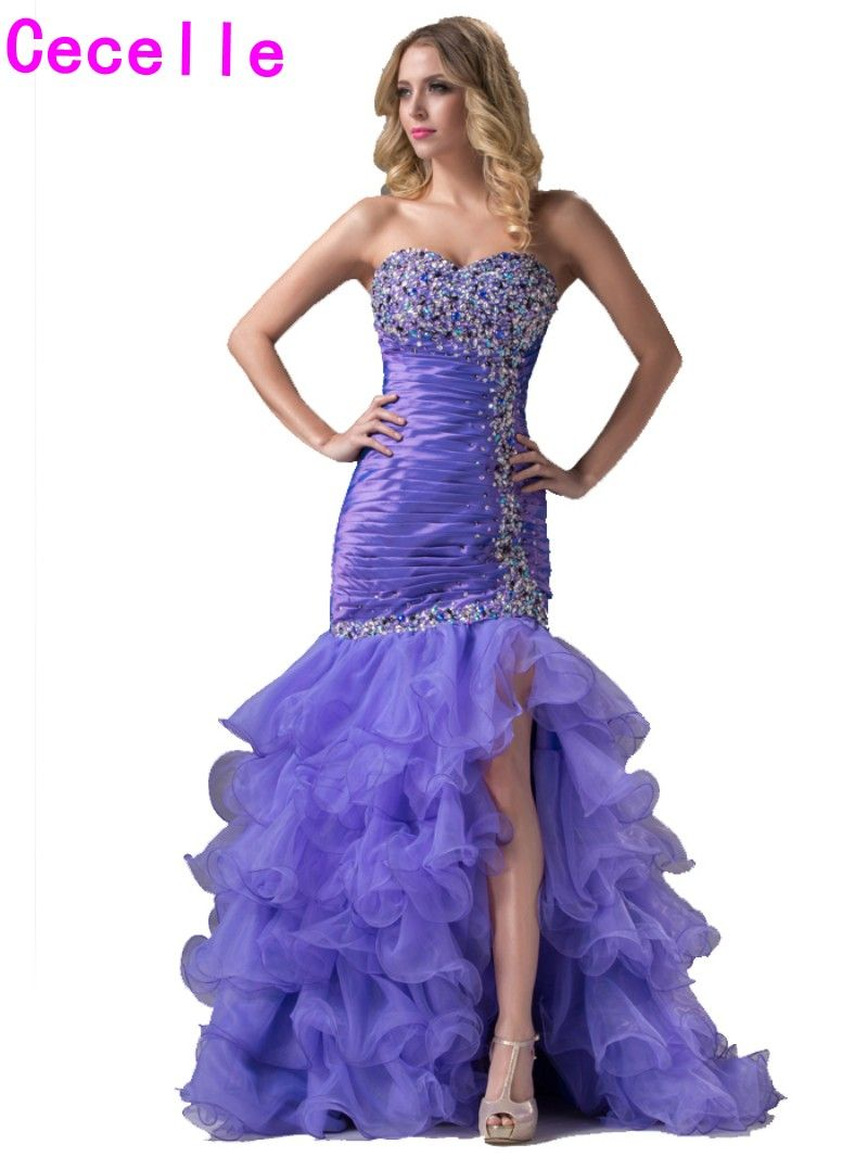 Click to buy ucuc sexy lavender long mermaid prom dresses sweep