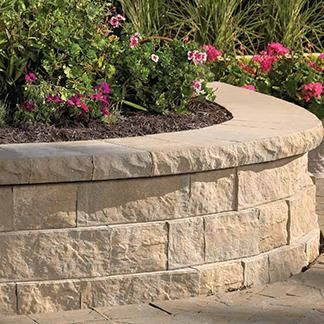 Belgard Retaining Walls Belair Wall Antique Quarry The Belair Wall Collection Offers Designers Retaining Wall Retaining Wall Blocks Hardscape