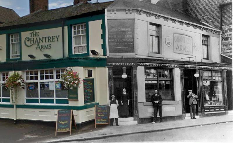 Chantrey Arms Pub Woodseats Sheffield Early 1900s