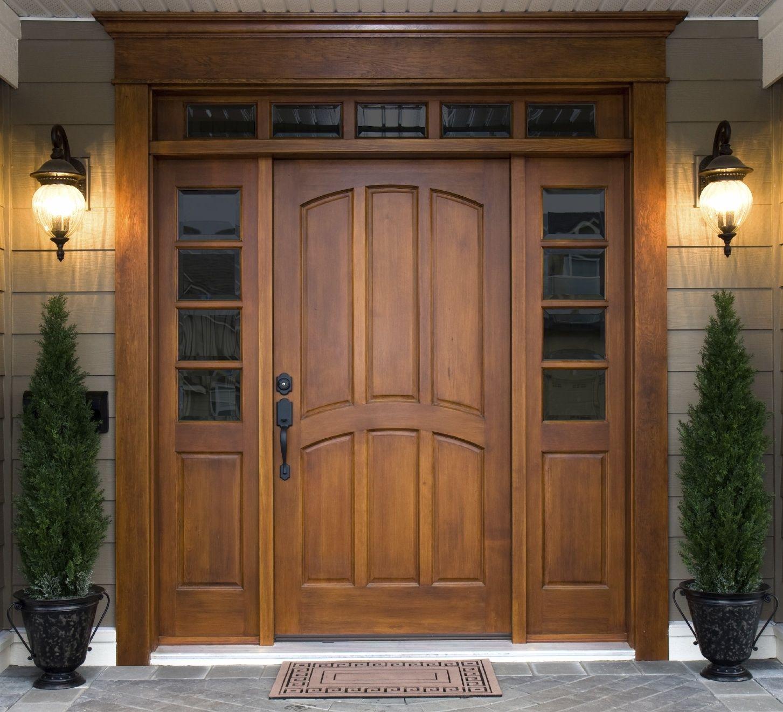 Rich wood color. | Pintu rumah | Pinterest