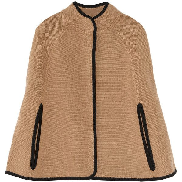 J.Crew Knitted wool cape, found on polyvore.com
