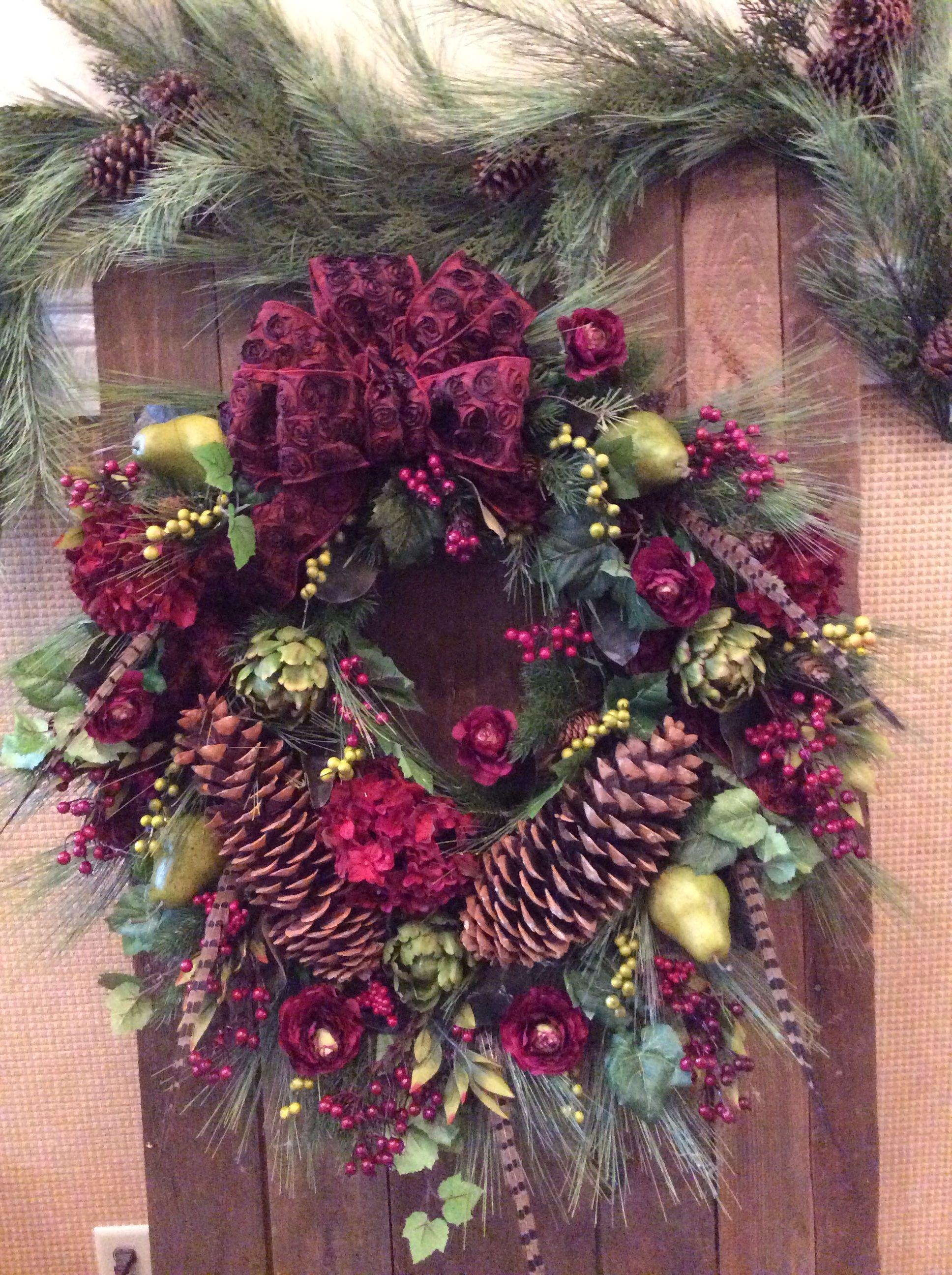 Rich burgundy wreath
