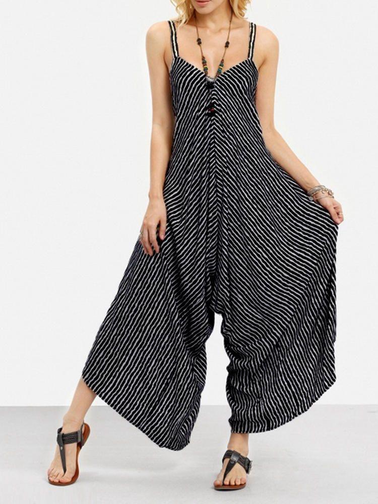 5bc770579ef Only US 29.99 shop sexy v-neck striped jumpsuit at Banggood.com. Buy  fashion jumpsuits   playsuits online. - Banggood Mobile