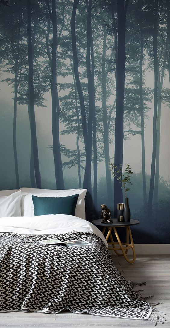 Best Sea Of Trees Forest Mural Wallpaper Muralswallpaper In 400 x 300