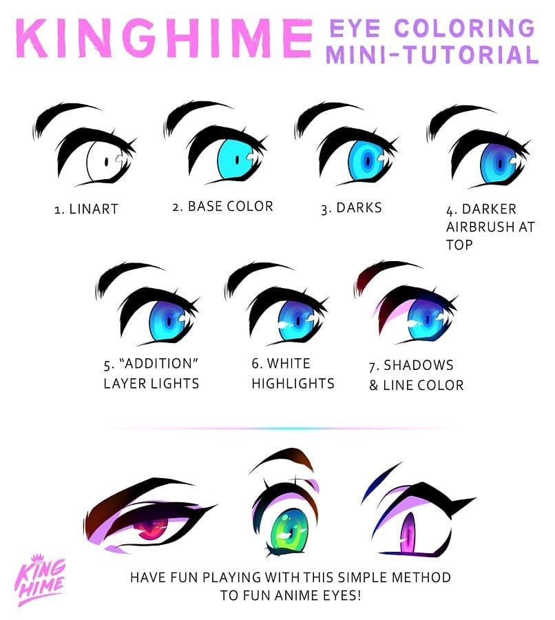 I Made This Mini Eye Coloring Tutorial For My Patreon About Two