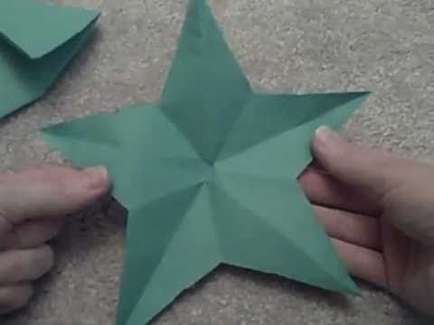 Cut a Perfect Star from Paper With Just One Cut! I could have used this so many times!