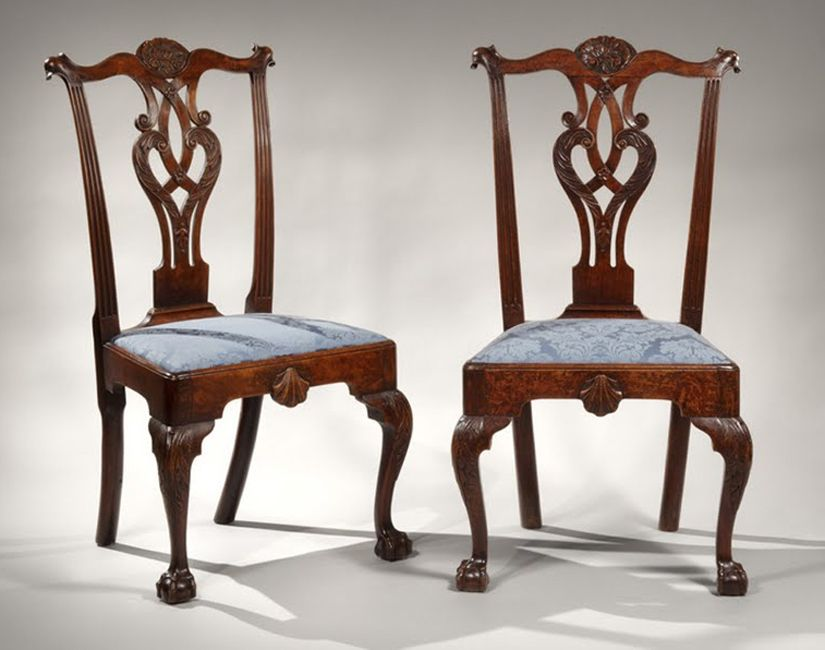 The benjamin franklin pair of early chippendale side for Comedores en franklin