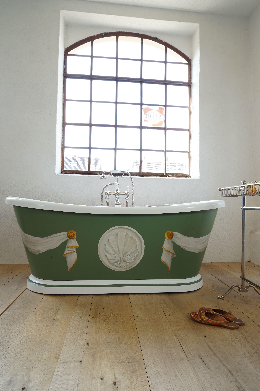 Ein Echtes Kunstwerk Ist Diese Freistehende Badewanne Von