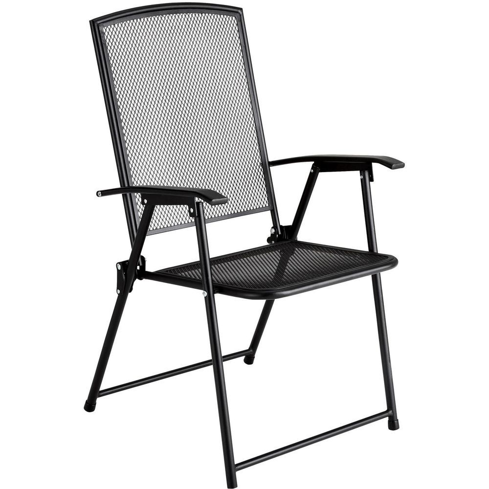 metal garden chair folding steel outdoor patio deck. Black Bedroom Furniture Sets. Home Design Ideas