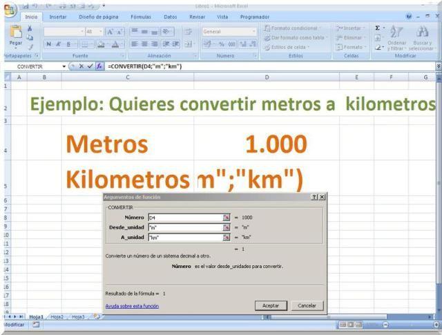 Convertir unidades de medida con Excel | Excel Hojas de cálculo ...