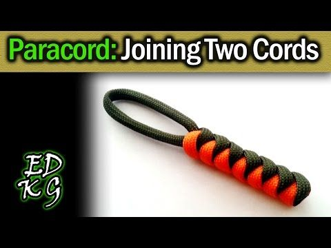 Simple Paracord Joining Cords 2 Tone Snake Knots Youtube