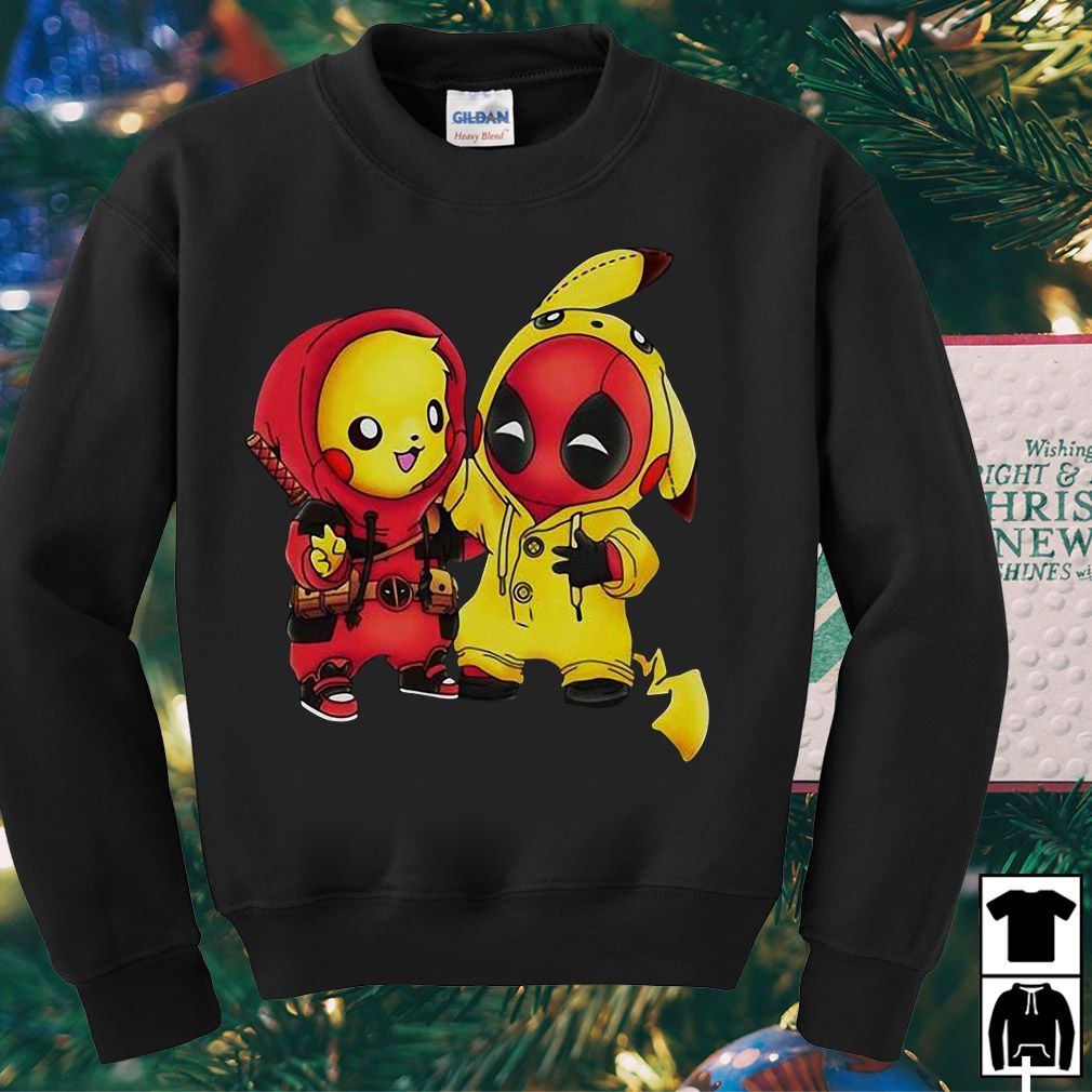d6fd74a7 Pikapool Pikachu Pokemon and Deadpool shirt, hoodie and v-neck t ...