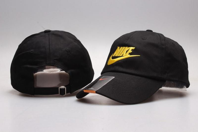 Men s   Women s Unisex Nike Heritage 86 Futura Logo Strap Back Adjustable  Baseball Hat - Black   Gold 5902fabda6a