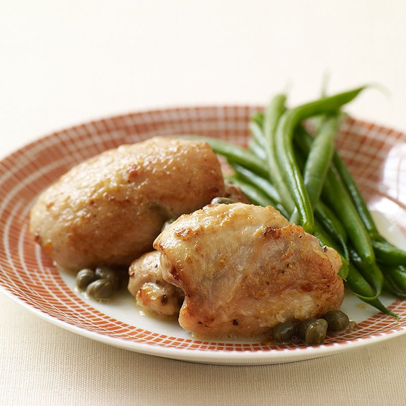 Sauteed Chicken Thighs With Lemon And Capers Recipe Weight