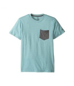 ca153f77711 Volcom Kids Twist Pocket Short Sleeve Tee (Big Kids) (Sea Blue Heather).  Camiseta De Manga CortaMangas ...