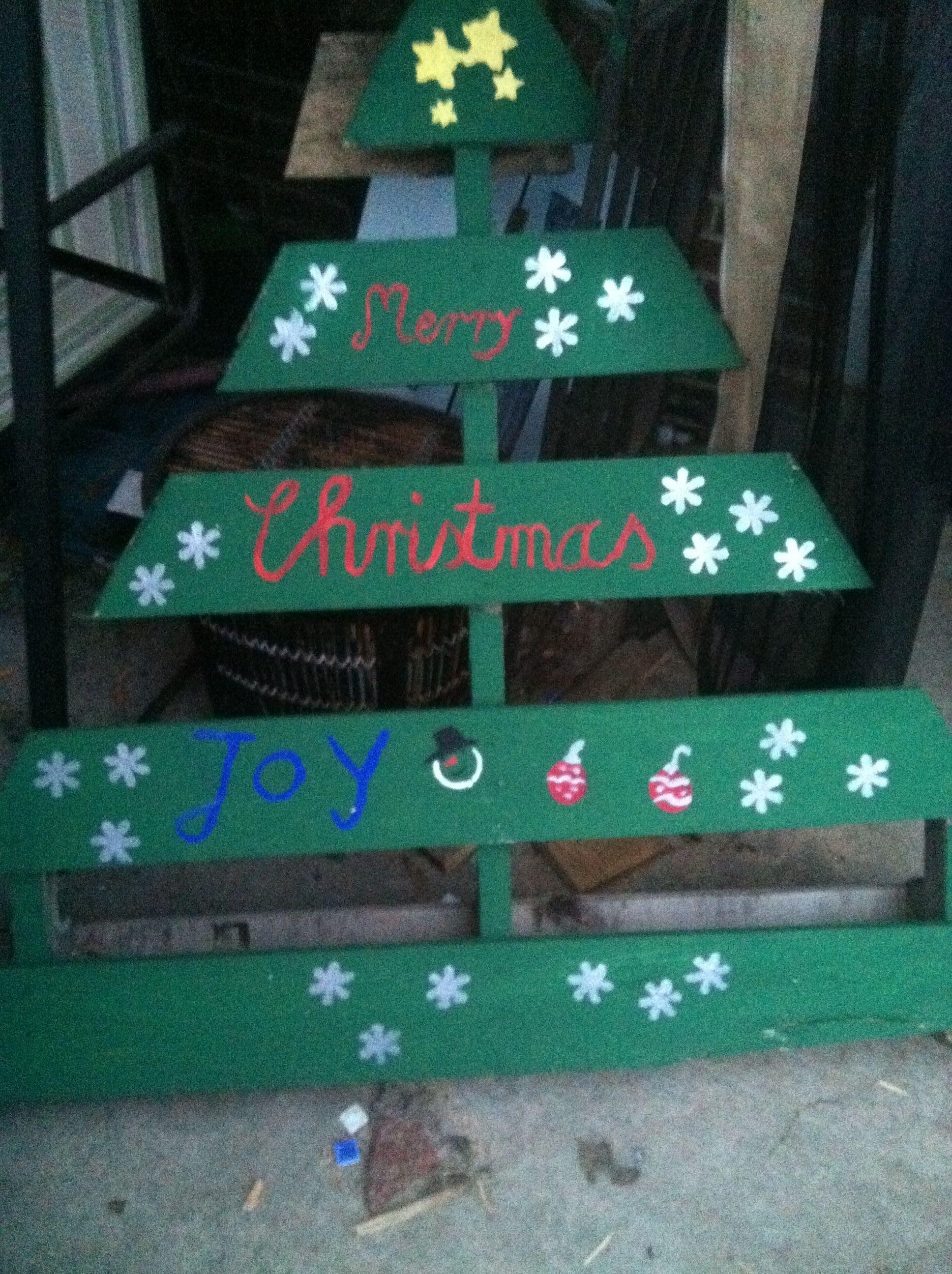 Oh christmas tree pallet craft