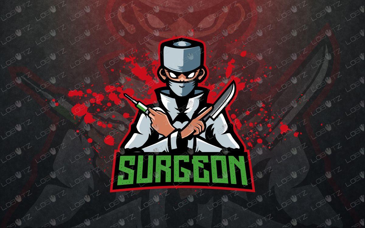 Evil doctor mascot logo doctor esports logo Evil doctor