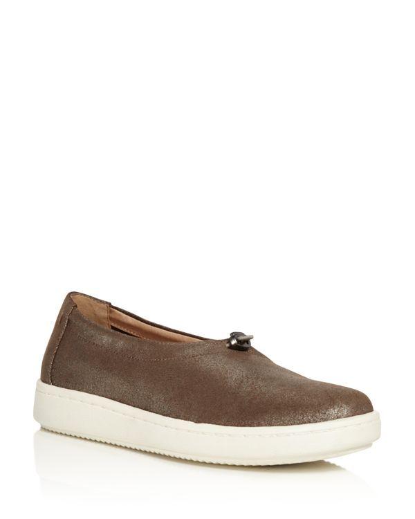 Eileen Fisher Sydney Metallic Leather Slip-On Sneakers