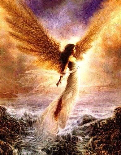 Golden Angel Angeles Y Hadas Angel Ilustracion Imagenes