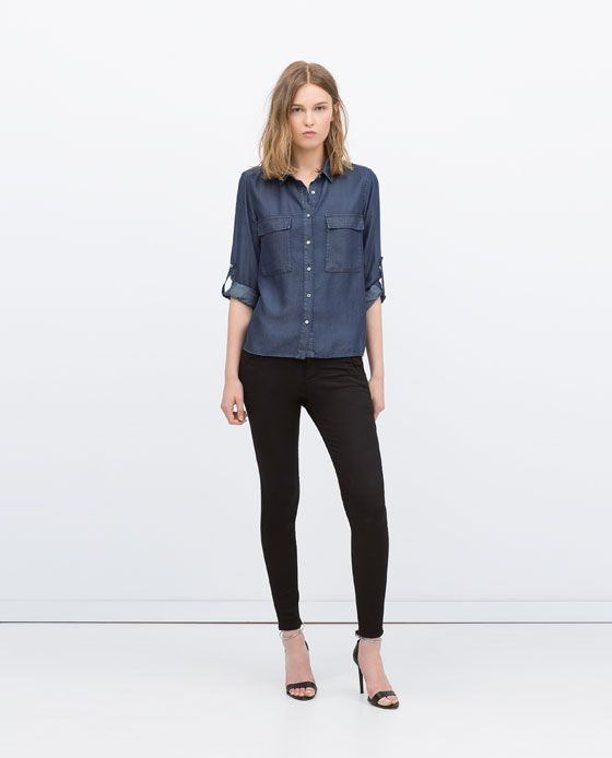 Clasico Clasico Negro Combinado Pantalon Zara Pantalon