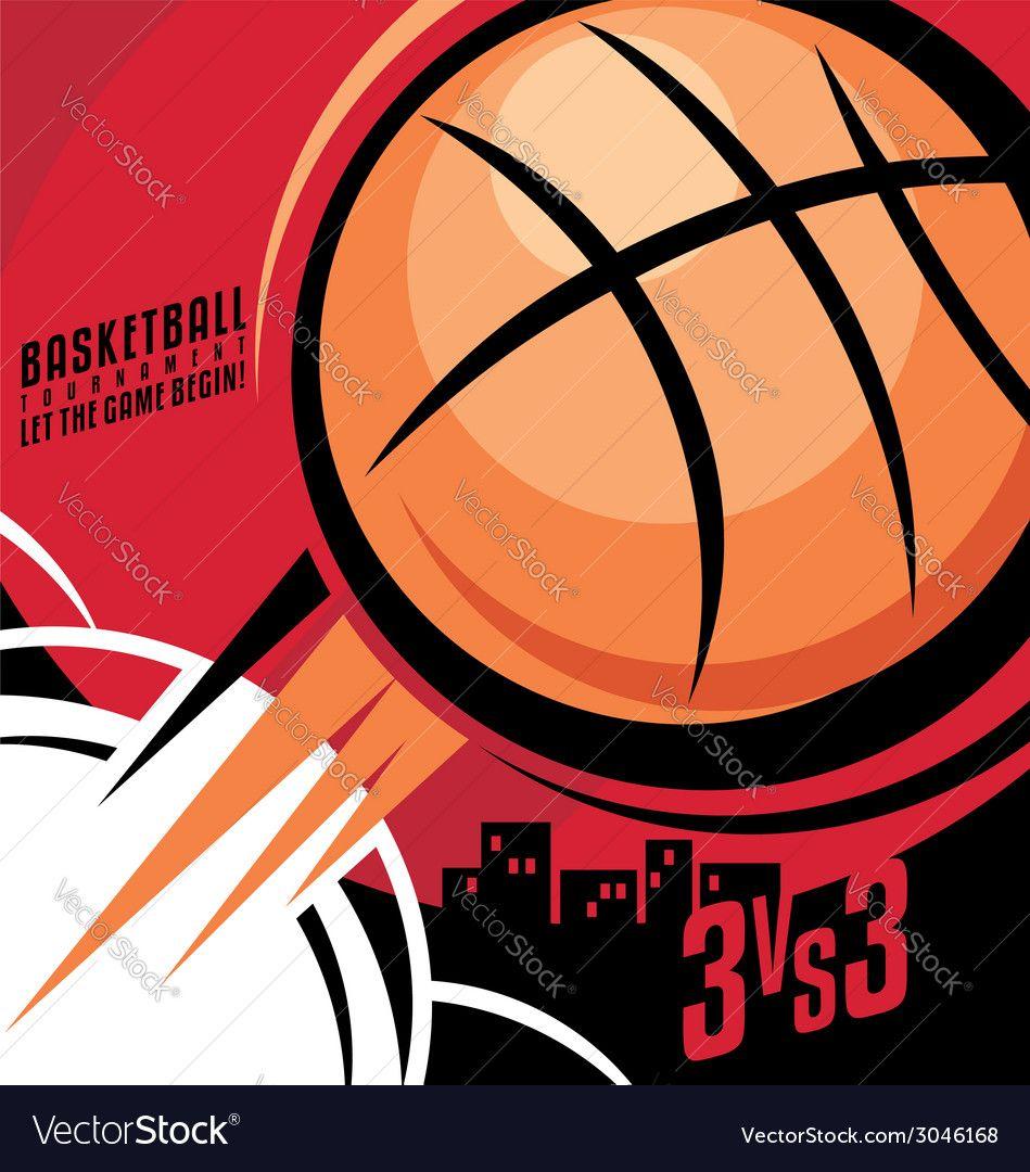 Basketball Poster Design Royalty Free Vector Image Sponsored Design Poster Basketball Royalty Ad Beer Logo Design Store Signs Design Vector Free
