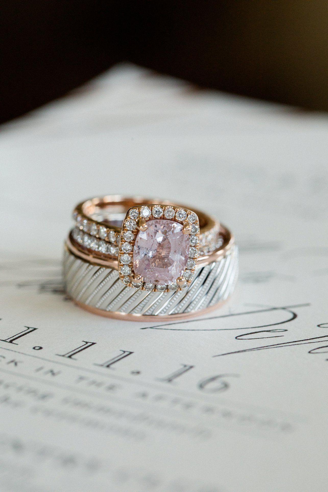 593a5626cbd367 Rose gold wedding rings weddingbandring Wedding engagement