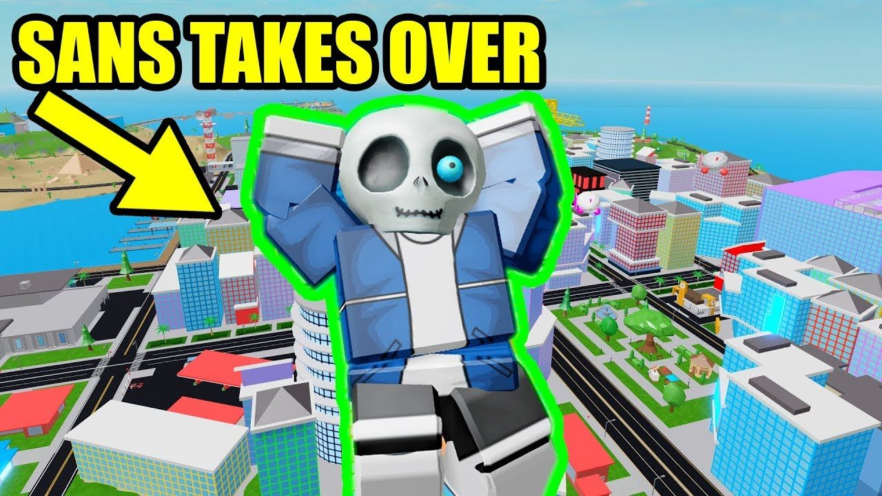 Sans Takes Over Mad City Roblox Roblox What Is Roblox Play Roblox