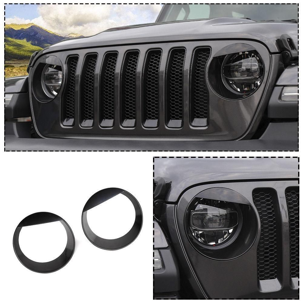 Black Headlight Cover Angry Bird Jeep Wrangler Jl 2018 2019