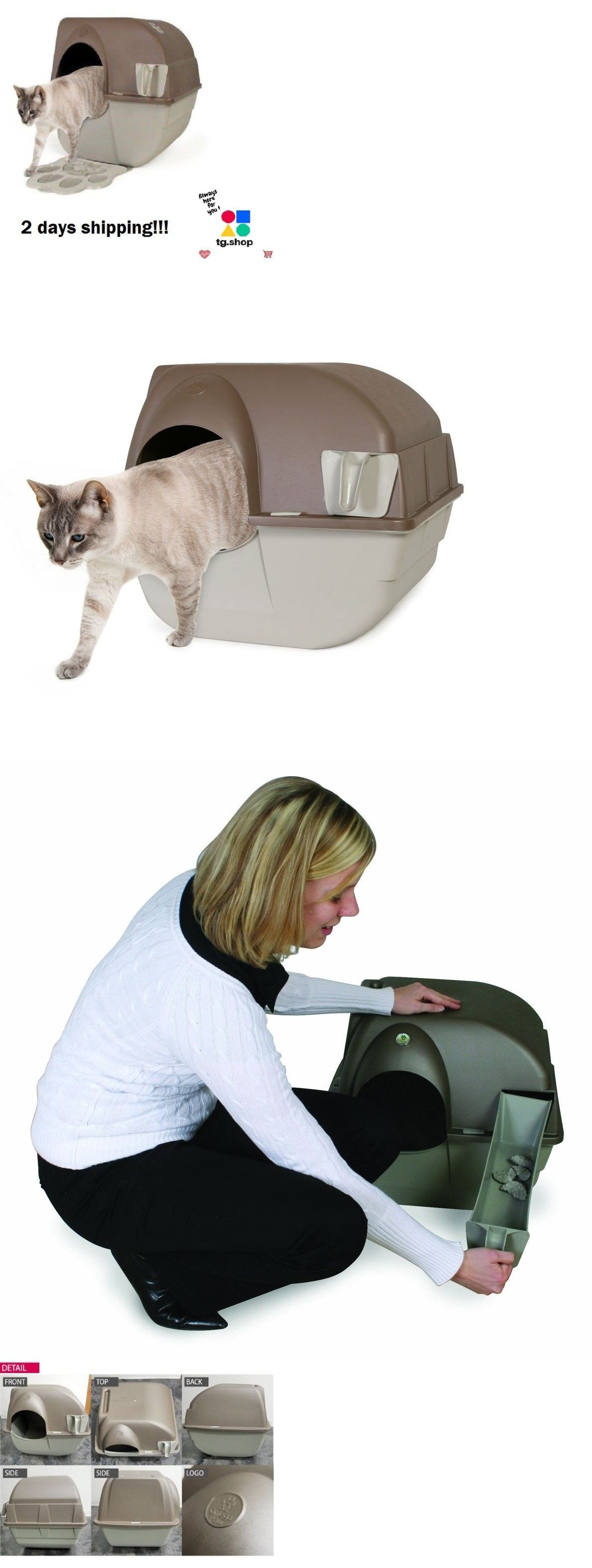 Litter Boxes Extra Cat Litter Box Pan Self Cleaning